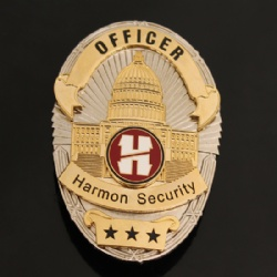Police badge with detachable design
